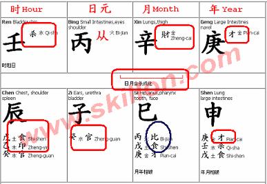BaZi, Four Pillars of Destiny, BaZi calculator, Feng Shui - skillon com